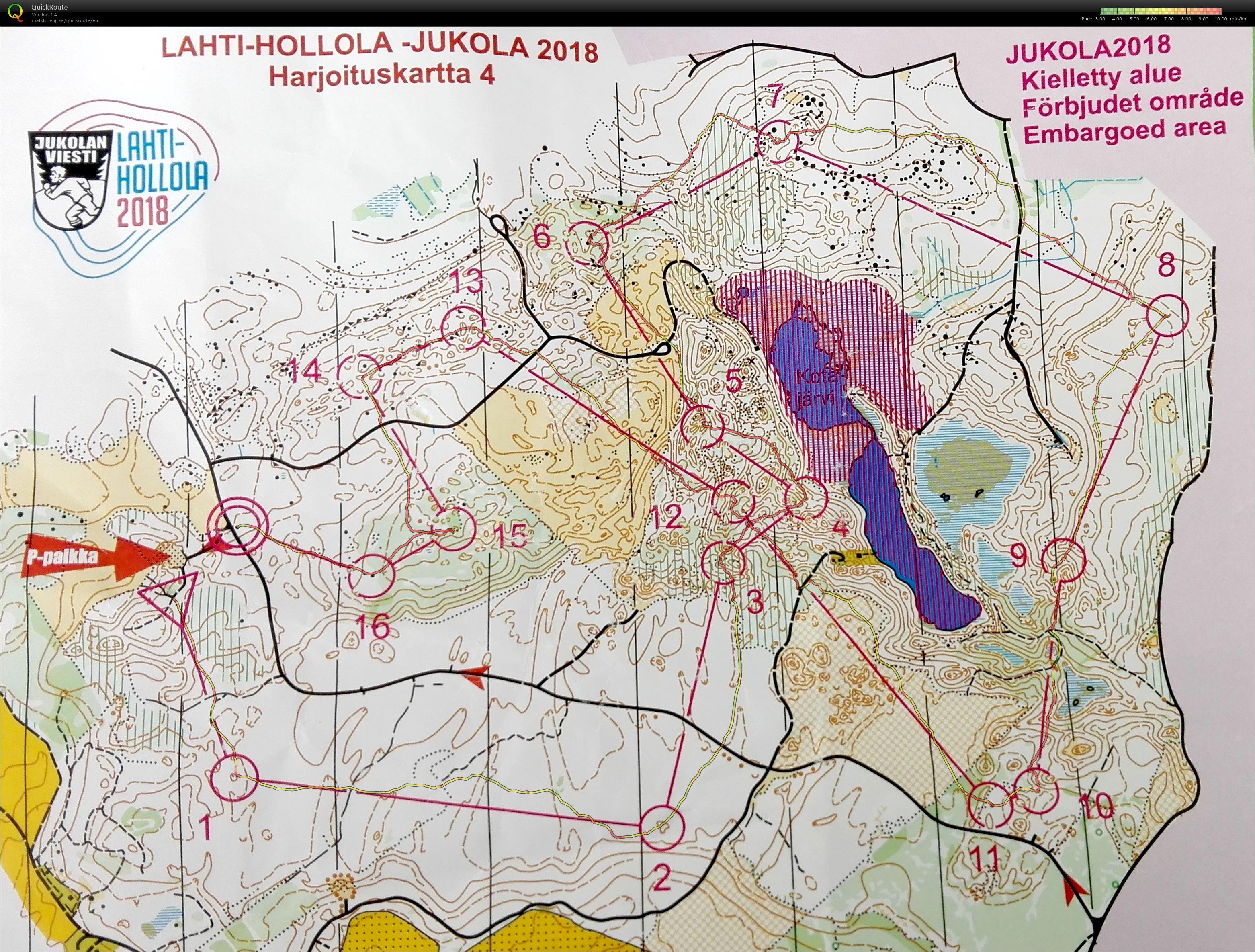 My digital orienteering map archive Jukola 2018 Harjoitus 2305